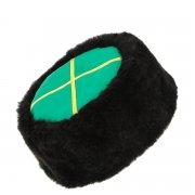Казачья кубанка черная (овчина, ручная выделка, высота 12 см, размерная утяжка) арт.5676