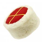 Казачья кубанка белая (овчина, ручная выделка, высота 12 см, размерная утяжка) арт.5725