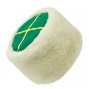 Казачья кубанка белая (овчина, ручная выделка, высота 12 см, размерная утяжка) арт.5728