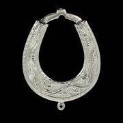 Кубачинская серебряная подкова ручной работы малая арт.4920