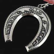 Кубачинская серебряная подкова ручной работы малая арт.7837