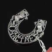 Кубачинская серебряная подкова ручной работы малая арт.7840