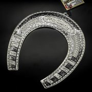 Кубачинская серебряная подкова ручной работы большая арт.6171