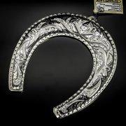 Кубачинская серебряная подкова ручной работы большая арт.6172