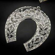 Кубачинская серебряная подкова ручной работы большая арт.6176