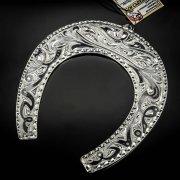 Кубачинская серебряная подкова ручной работы большая арт.6193