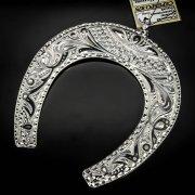 Кубачинская серебряная подкова ручной работы большая арт.6194