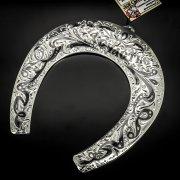 Кубачинская серебряная подкова ручной работы большая арт.6195