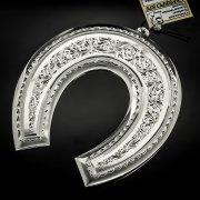 Кубачинская серебряная подкова ручной работы большая арт.6198