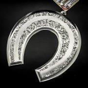Кубачинская серебряная подкова ручной работы большая арт.6200