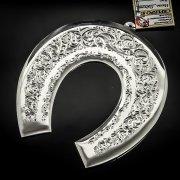 Кубачинская серебряная подкова ручной работы большая арт.6203