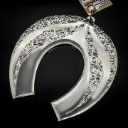 Кубачинская серебряная подкова ручной работы большая арт.6205