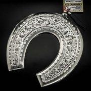 Кубачинская серебряная подкова ручной работы большая арт.6206