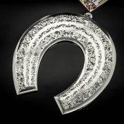 Кубачинская серебряная подкова ручной работы большая арт.6211