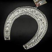 Кубачинская серебряная подкова ручной работы большая арт.6216