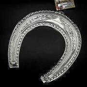 Кубачинская серебряная подкова ручной работы большая арт.6220