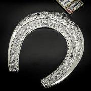 Кубачинская серебряная подкова ручной работы большая арт.6223