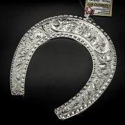 Кубачинская серебряная подкова ручной работы большая арт.6230