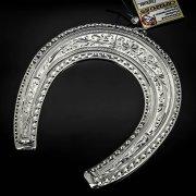 Кубачинская серебряная подкова ручной работы большая арт.6232
