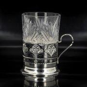 Серебряный подстаканник Кубачи (стакан и коробка - в подарок) арт.4767