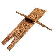 Деревянная раскладная подставка под Коран ручной работы с узорами арт.7324