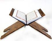 Деревянная раскладная подставка под Коран ручной работы с узорами средняя (выжигание)