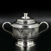 Серебряная сахарница Кубачи ручной работы арт.8659