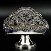 Серебряная салфетница Кубачи ручной работы арт.8667