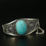 Серебряный кубачинский браслет с филигранью ручной работы арт.9763