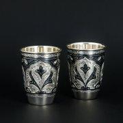 Серебряные стопки Кубачи ручной работы (2 персоны) арт.5878