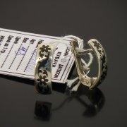 Кубачинские серебряные серьги ручной работы с чернением арт.7482