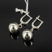 Кубачинские серебряные серьги шары ручной работы арт.8019
