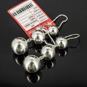 Кубачинские серебряные серьги шары ручной работы арт.8023
