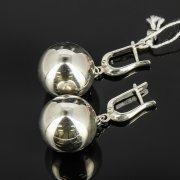 Кубачинские серебряные серьги шары ручной работы арт.8024