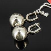 Кубачинские серебряные серьги шары ручной работы арт.8025