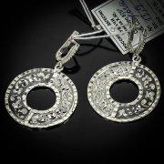 Кубачинские серебряные серьги ручной работы с чернением арт.5535