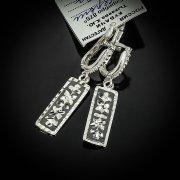 Кубачинские серебряные серьги ручной работы с чернением арт.5550