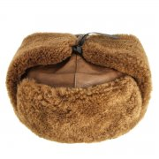 Мужская шапка-ушанка из овчины ручной работы арт.7557
