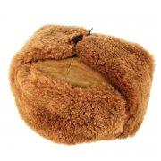 Мужская шапка-ушанка из овчины ручной работы арт.7354