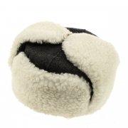 Мужская шапка-ушанка из овчины ручной работы арт.7373