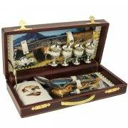 Кизлярский туристический набор в кожаном футляре арт.5752