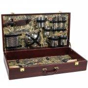 Шашлычный набор в кожаном кейсе арт.6287