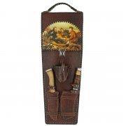 Кизлярский шашлычный набор в кожаном чехле арт.6388