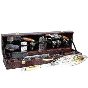 Кизлярский шашлычный набор в подарочном кейсе большой №4 (каштановый) - фото 1