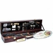 Кизлярский шашлычный набор в подарочном кейсе большой №2 (каштановый)