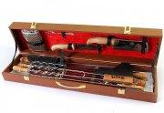 Кизлярский шашлычный набор в подарочном кейсе средний (коричневый)