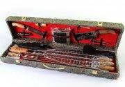 Кизлярский шашлычный набор в подарочном кейсе большой (змеиная кожа)