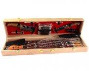 Кизлярский шашлычный набор в подарочном кейсе большой (бежевый)