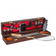 Кизлярский шашлычный набор в подарочном кейсе большой арт.9149
