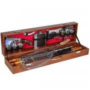 Кизлярский шашлычный набор в подарочном кейсе большой арт.6749